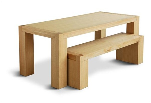GUS Plank Table and Bench