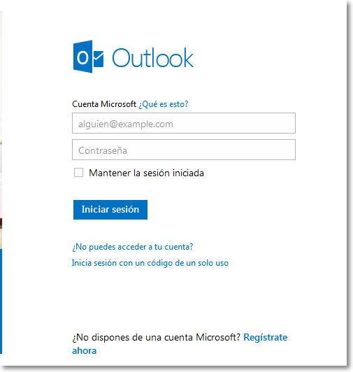 Crear un correo en Oulook