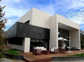 fachada moderna muebles de terraza