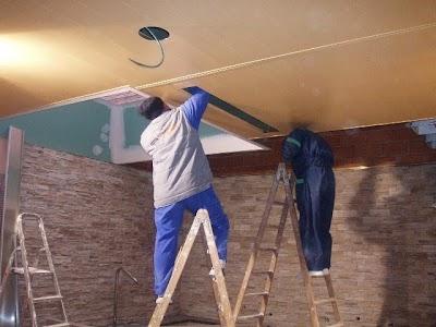 Falsos techos de aluminio imitacion madera