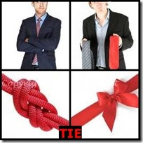 TIE- 4 Pics 1 Word Answers 3 Letters