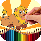 Coloring Book Wild Animals