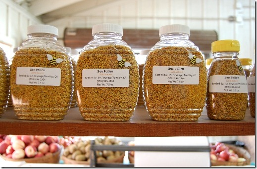 Bee Pollen at A & F Country Market in Ventura California photo by J. Garbee