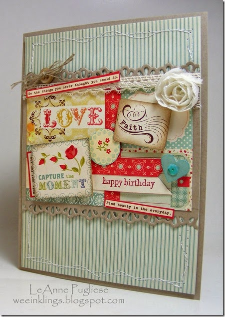 LeAnne Pugliese WeeInklings Collage Birthday Teeny Tiny Wishes Stampin Up