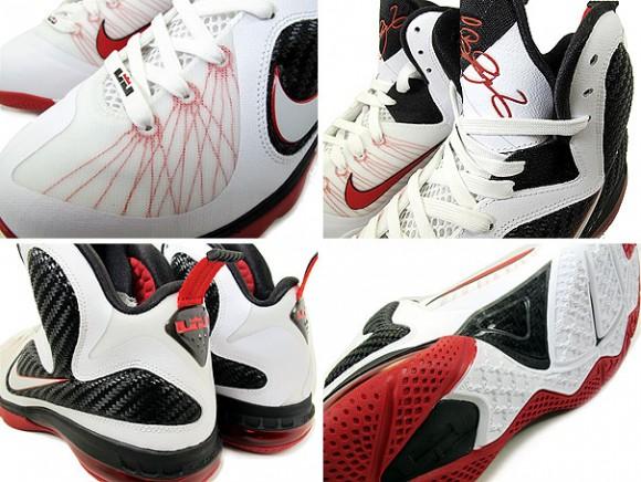 size 40 48471 1580f Nike LeBron 9 WhiteBlackRed 8220Miami Heat8221 Home .