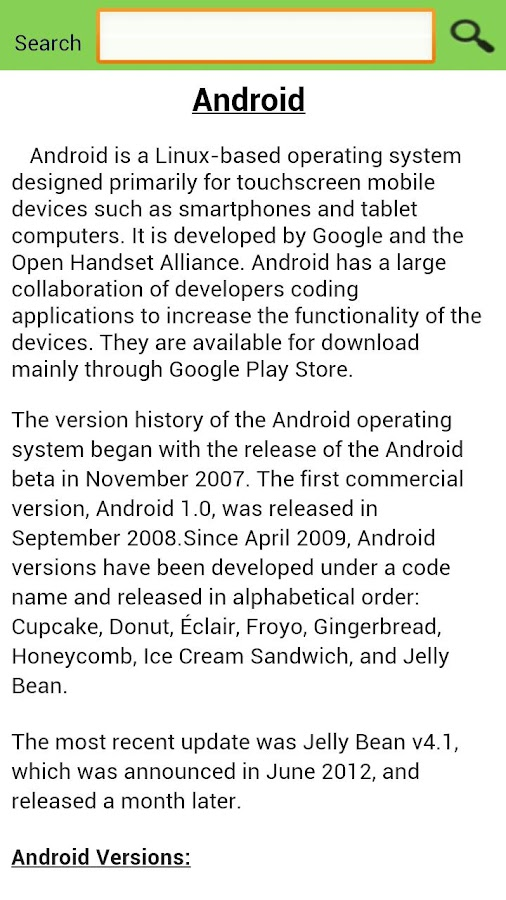 Google Android Updates Info - screenshot