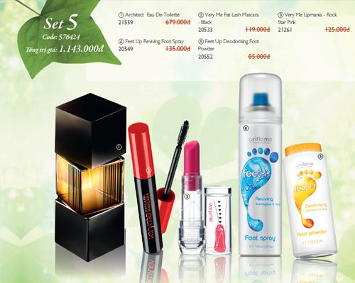 Oriflame 6-2012: Bộ set quà tặng giảm giá - Bộ 5