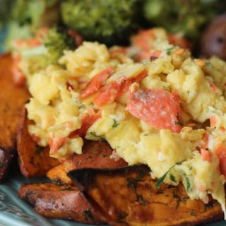 Dill Smoked Salmon and Red Pepper Scramble Recipe