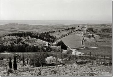 Bethphage from Mount of Olives showing wilderness, mat02531