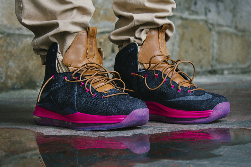 promo code 4933f 77876 Another On Foot Look at Nike LeBron X EXT Denim QS   NIKE LEBRON - LeBron  James Shoes