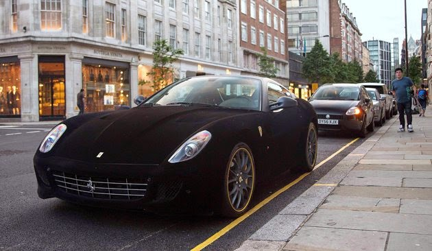 Velvet-wrapped Ferrari 599