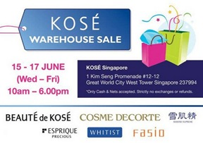 Kose sale warehouse 2011