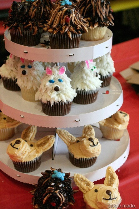 Puppy Cupcake Tower
