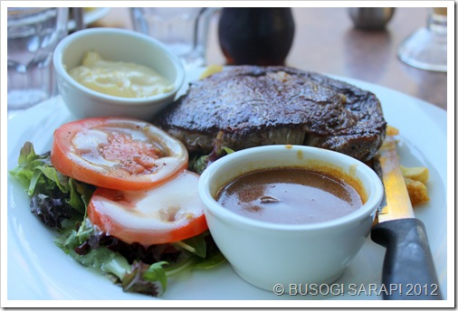 AQUA'S RIB FILLET STEAK MEAL WITH MUSHROOM & AIOLI SAUCES© BUSOG! SARAP! 2012