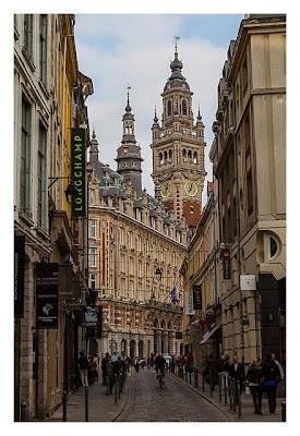 Geocaching in Flandern - Lille - Blick auf die Industrie und Handelskammer