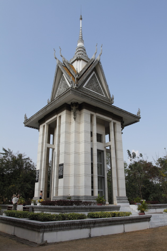 The memorial at the killing fields of Choeung Ek, Cambodia
