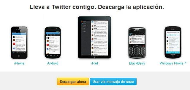Twitter para los smartphones