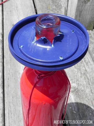 slip lid onto bottle neck