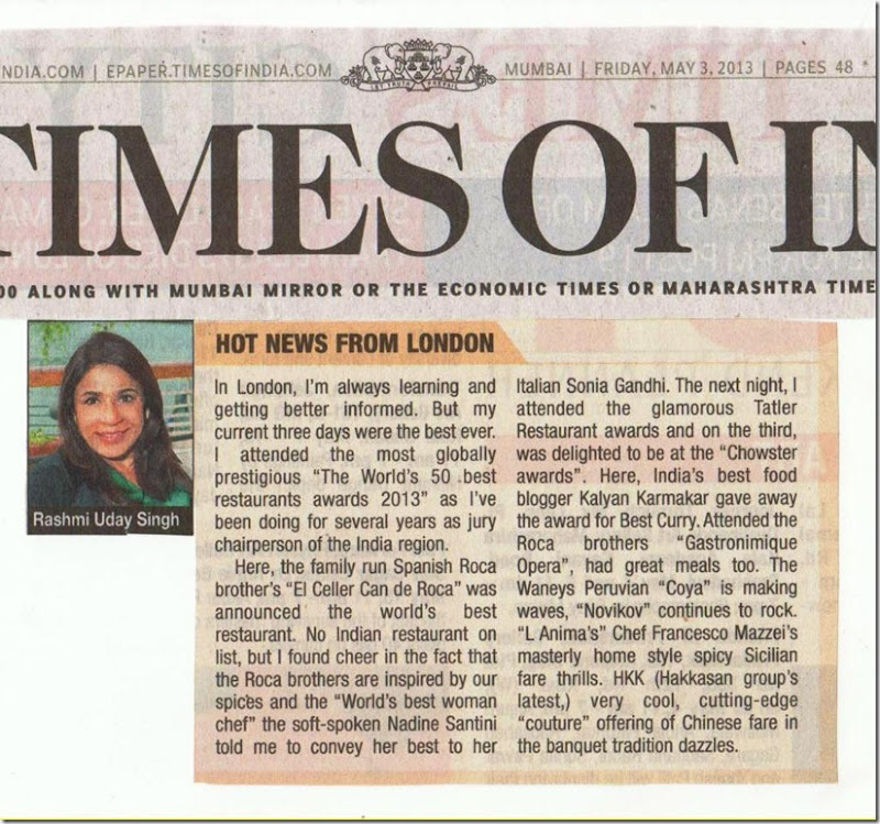 Times Of India 3rd may 2013