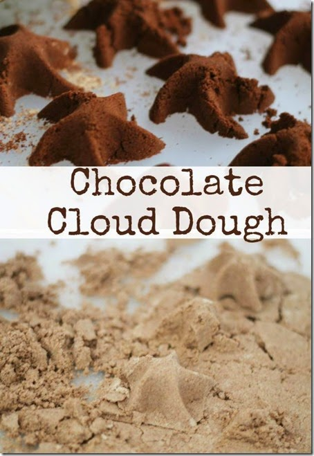 Chocolate Cloud Dough - This is such a fun recipe for play! Toddler, Preschool, and Kindergarten age children especially will enjoy this sensory activity. And oh the chocolate smells AMAZING! Great Valentines Day Activity.