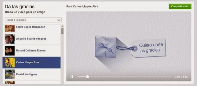 Cómo crear un video para tus amigos de Facebook con Say Thanks