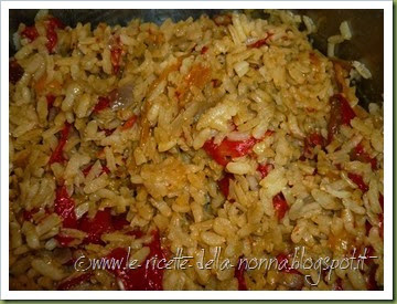 Riso freddo con peperoni dolci, zafferano e peperoncino piccante fresco (6)