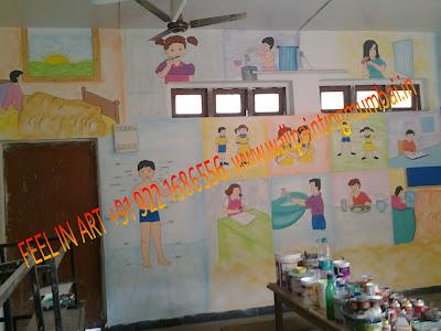 PLAY SCHOOL CLASSROOM WALL PAINTING VILE PARLE / SANTACRUZ / ANDHERI / MUMBAI