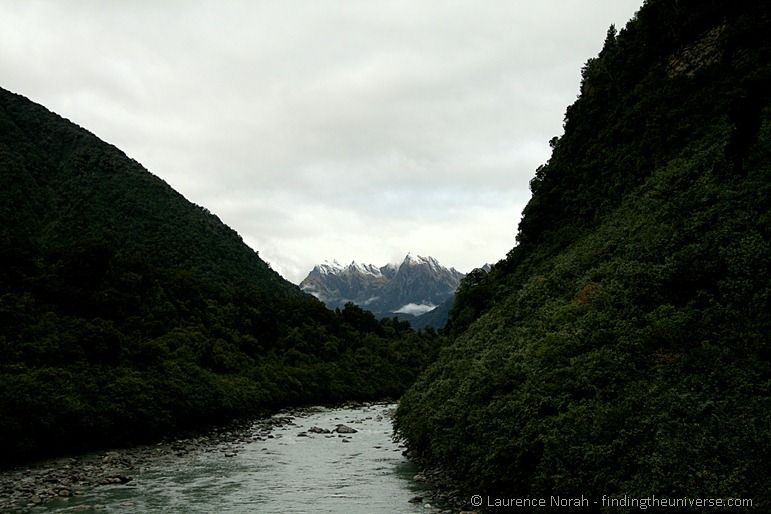 Southern Alps and river