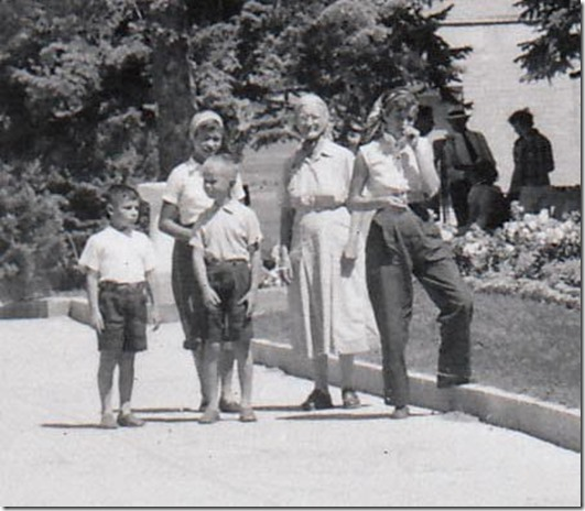 Webster Family at the Manti Utah Temple 1952