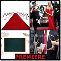 PREMIERE- 4 Pics 1 Word Answers 3 Letters