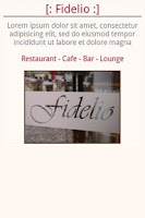 Screenshot of Fidelio, Restaurant-Café-Bar