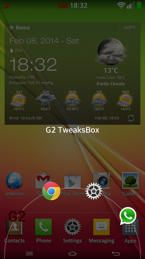 G2 TweaksBox - screenshot