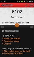Screenshot of Additifs Alimentaires +
