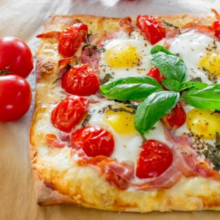 Pancetta and Gruyere Breakfast Pizza.