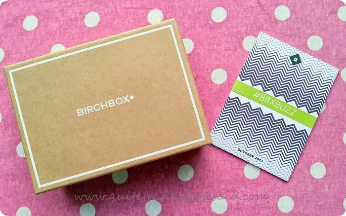 Birchbox beauty box october 2013