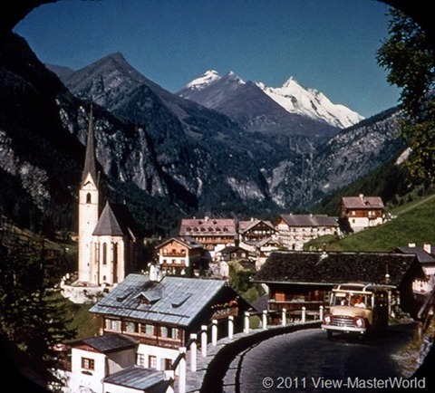 View-Master Austria (B198), Scene 13: Heiligenblut Church and Grossglockner Mount