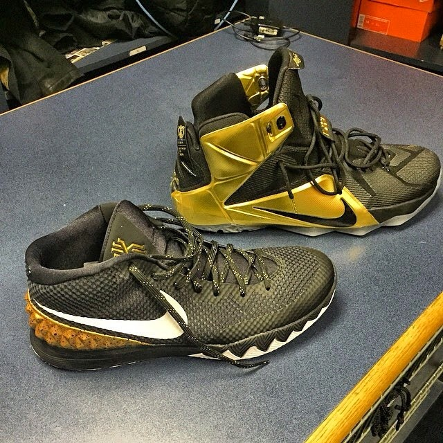 uk availability 5a461 5eea9 ... purchase lbj wears black gold nike lebron 12 for grammy night e9725  42e17