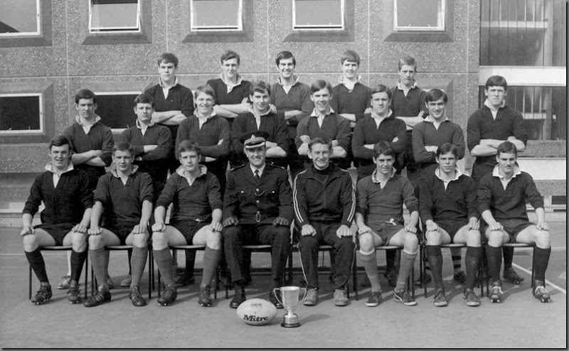 Durham Police Cadets Rugby Team 1974 - Winners of the County Colts CupBack Row : ?,Brian Gibson, Colin Crathorne,Keith Lowery, Pop Robsonwith Denny Pygal, Neil Patrick, Eric Suddes, Dickie Smithson, Keith Armstrong, Fraser Gill, Tommy Thompson, Brian Gibson, Neil Hobson, Ray Basham, Colin Crathorne, George Nixon, Bob Brown,Harry Stephenson, Syd Wareham, Alan Sinden, Graham Alderton, Malcolm Patterson and Malcom Patterson.