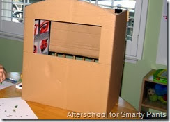 A Table Top Puppet Theater From a Medium Size Cardboard Box
