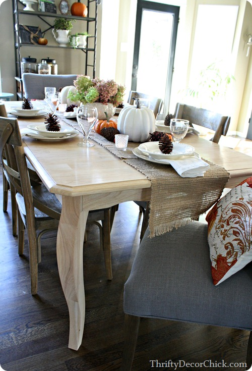 natural fall table setting