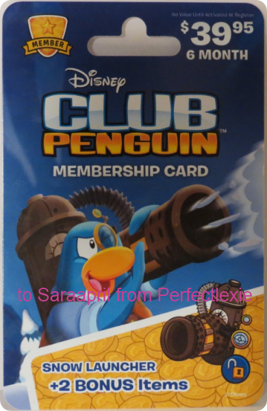 Club Penguin Snow Launcher Membership Card :)