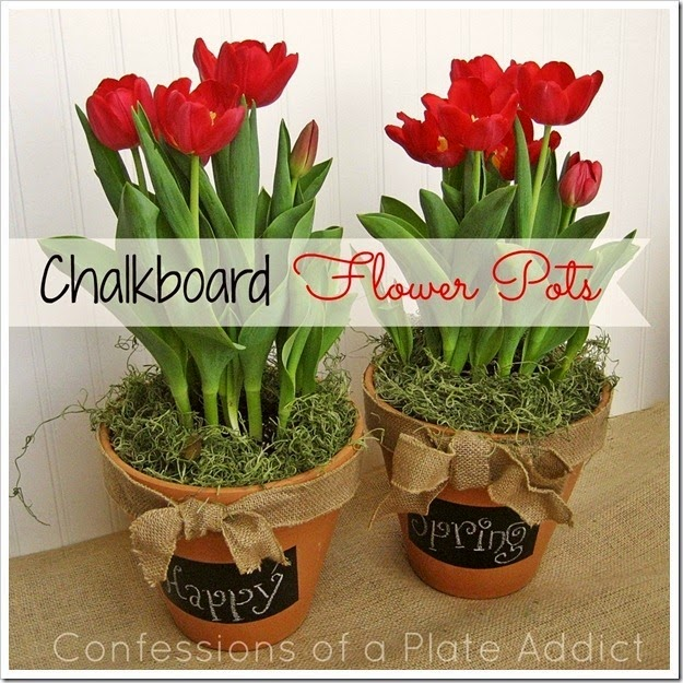 CONFESSIONS OF A PLATE ADDICT Chalkboard Flower Pots