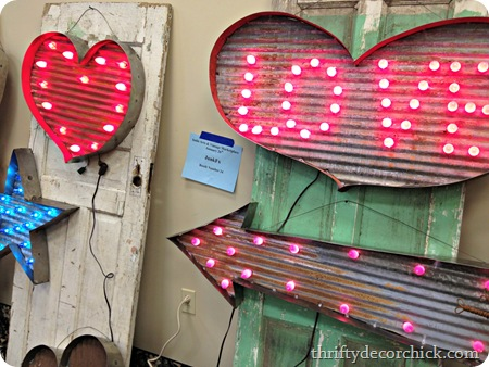 industrial metal light up signs