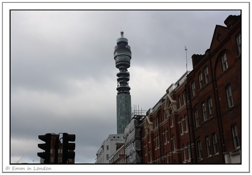 The BT Tower from Goodge Street