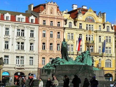 Europa Centrala: Statuia lui Jan Hus