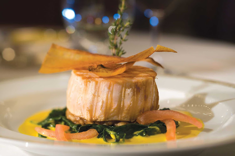 A fish dish prepared for guests aboard a Regent Seven Seas cruise.