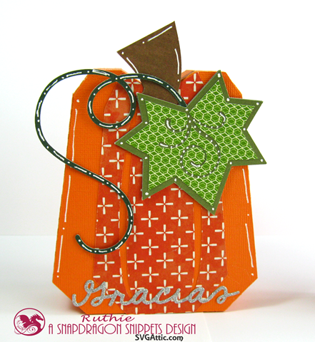 Pumpkin box - SnapDragron Snippets - Ruthie Lopez - Thanksgiving table decoration 2