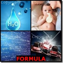 FORMULA- 4 Pics 1 Word Answers 3 Letters