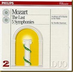 Mozart sinfonias Marriner Philips