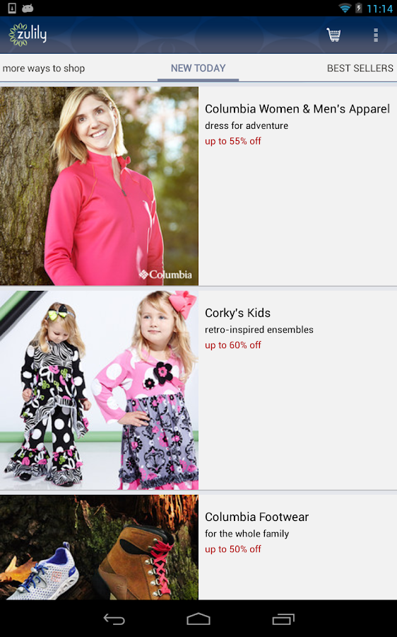 zulily- screenshot